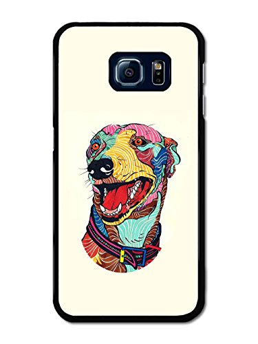 beautiful-colourful-greyhound-dog-illustration-on-cream-background-carcasa-de-samsung-galaxy-s6-edge