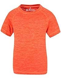 Mountain Warehouse T-shirt enfant Garçon Manches Courtes Isocool Léger Respirant Anti UV Agra