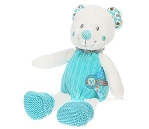NICOTOY Peluche Little Hug Ours Bleu