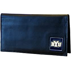 BYU Cougars Leather Checkbook Cover