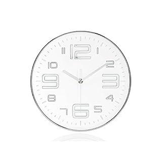 Andrea House–Uhr Wand Chrom/B Ø30x 4,5cm (ax17055)