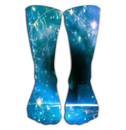 CVDGSAD Outdoor Sports Men Women High Socken Stocking Eyes Universe Abstract Environmental Backgrounds Bright Tile Length 19.7