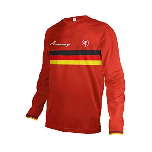 Uglyfrog Nationalflagge Streifen Designs Erwachsene Herren Downhill Trikot MX Jersey Lange Ärmel Spring Fahrrad Motocross Offroad T-Shirt