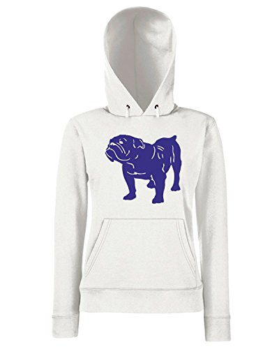 T-Shirtshock - Sweats a capuche Femme FUN0305 15f british bull dog decal 61047 Blanc