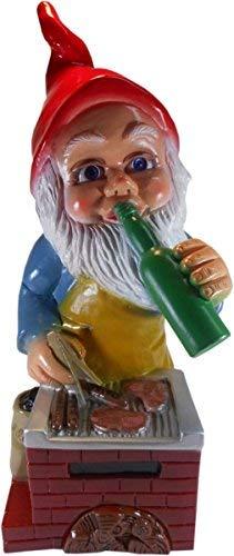 Gartenzwerg Grillmeister aus bruchfestem PVC Zwerg Made in Germany Figur