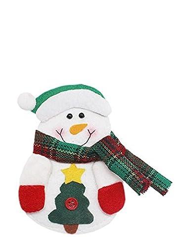 Weihnacht,LMMVP 3pcs Weihnachtsweihnachtsküche Tischgeschirr Halter Tasche (Red)