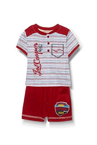 Lee Cooper - ensemble deux pièces tee shirt et short - bébé garçon - rouge