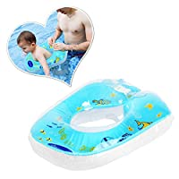 WEY&FLY Baby Swimming Ring Float, Inflatable Baby Swim Ring with Skin Care PVC for Infant Training, Baby Toddler Pool Swimming Float for Kids Paddling Pool 6 Months to 3 Years (Blue)