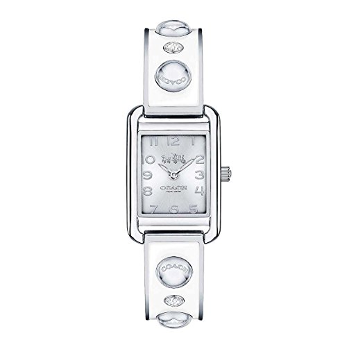 Silver Dial Women's Analog Fashion Quartz Coach Watch Thompson 14502552