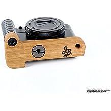 Jianying Poignée pour appareil photo Sony DSC-RX100ou Mark IV 4et Sony DSC-RX100Mark 5ou v   Camera J.B. Poignée Grip en bambou massif et aluminium anodisé   Appareil photo de Camera Designs États-Unis   couleur: tons clairs Marron (Bambou), noir mat (Aluminium)