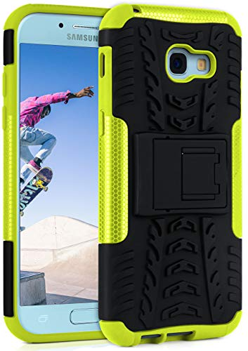 ONEFLOW® Outdoor Back-Cover aus Silikon + Kunststoff [Double-Layer] passend für Samsung Galaxy A5 (2017) | Extrem widerstandsfähiger 360° Schutz, Grün