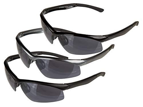 Queens n Kings Sonnenbrille, Sportbrille, Kunststoff schwarz matt