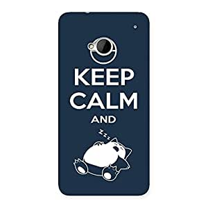 Special Keep Calm And Sleep Back Case Cover for HTC One M7