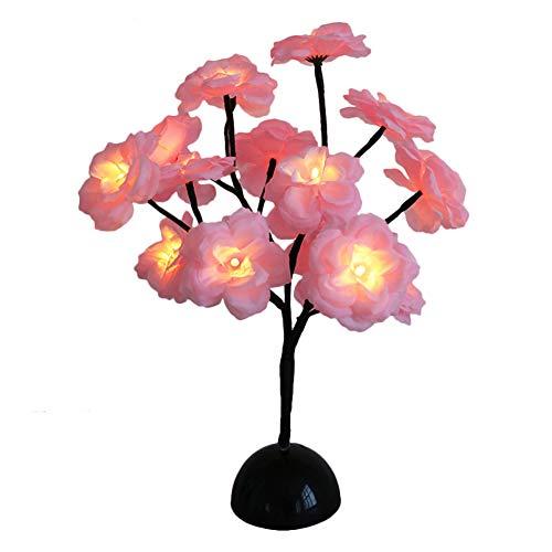 NimbleMinLki Nachtlicht mit Chrysanthemen/Kamelie, LED, Blumenmotiv, für Hochzeit, Weihnachten, Party, Dekoration, 2 Stück, Textil, 2