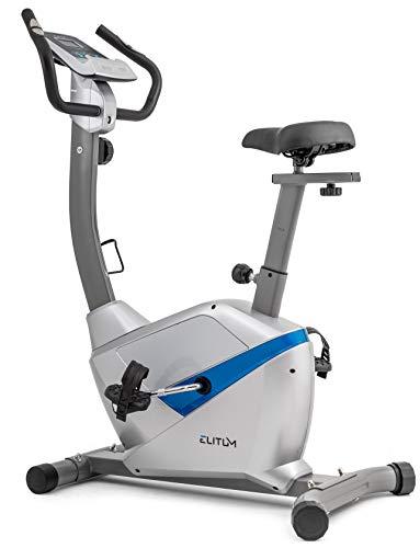 Heimtrainer RX500 Fitnessbike Trimmrad Ergometer verstellbarer Sattel Schwungmasse 9 kg inkl. Computer Pulssensoren Wieß