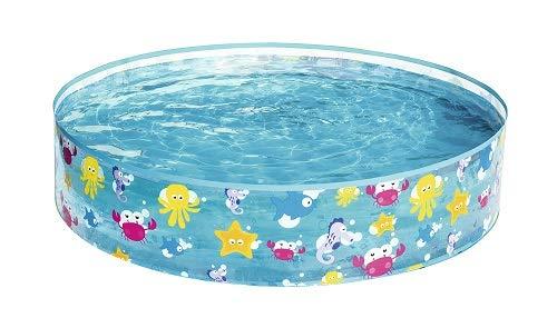 Bestway 55028 - Piscina para niños redonda kids' play pool en PVC y Vinilo (1210 x 1210 mm), con capacidad para 219 litros  y estampado, multicolor