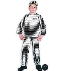 Idea Regalo - Detenuto 2 tlg m berretto galeotto Carcerato evadere costume per bambini
