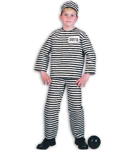 Sträfling 2tlg m Mütze Straefling Gefangener Gefängnis Kinder Kostüm Gr (Sträfling Kind Kostüme)