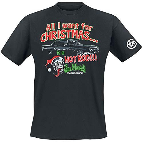 Gas Monkey Garage T-Shirt All I Want for Xmas Black-XL 9156ac91b2c23