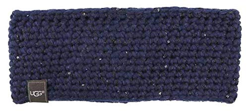 UGG Womens Crochet Headband With Lurex & Sequins In Indigo