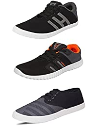 Scatchite Pack of 3 Trendy Casual Shoes For Men's