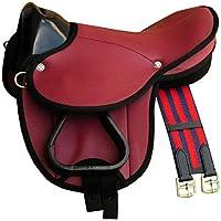 Pony de Shetty Sillín Little Billy, Set completo también para madera Caballos–Color: Rojo Sillín Juego para pony o Shetty o madera Caballos