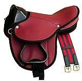 Pony Shetland Sattel Little Billy, completo set anche per legno cavallo–Colore: Rosso Sella Set per pony o Shetty o legno Cavallo