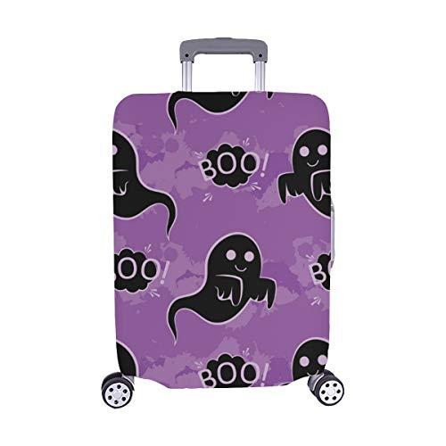 Abstraktes nahtloses Halloween-Muster-Mädchen-Jungen-Muster Spandex-Trolley-Reisegepäck-Schutz-Koffer-Abdeckung 28,5 x 20,5 Zoll