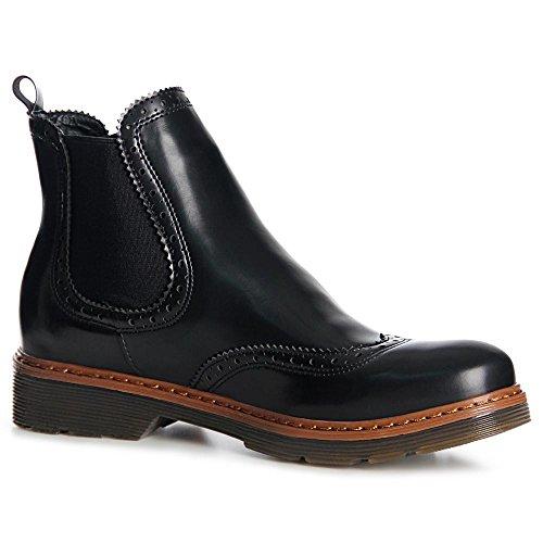 topschuhe24 990 Damen Stiefeletten Chelsea Boots Booties Schwarz