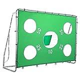 Pinty Portería de Fútbol Meta con Red de Nylon de Alta Resistencia y Tubos de Acero para Niños Chicos 244 * 85 * 171cm