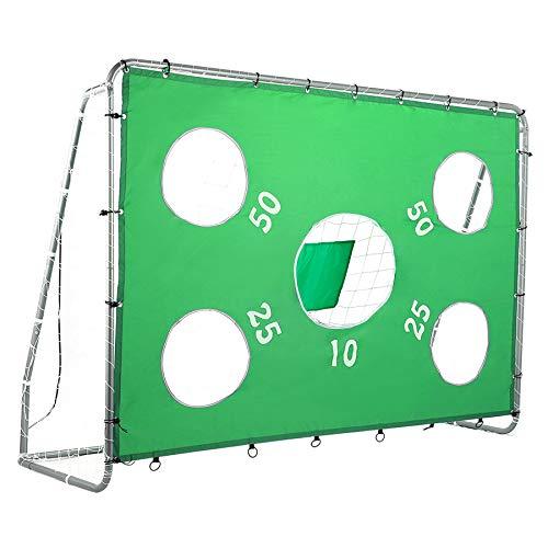 Pinty Goal di Calcio con Rete Nylon ad Alta Resistenza e Tubi Acciaio Rivestito Polvere per Ragazzi Porta da Calcio Obiettivo di Calcio 244 * 171 *