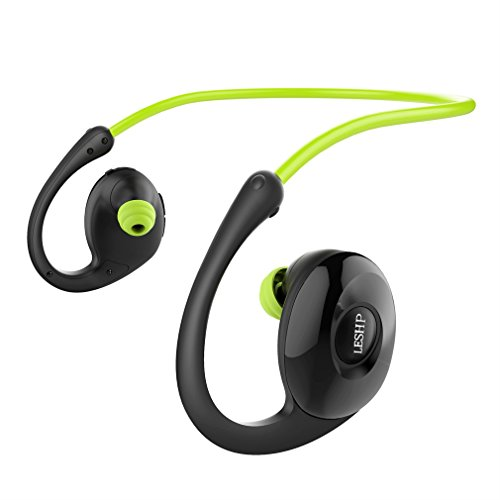 Sport Kopfhörer LESHP NEW BEE NB-7 Bluetooth NFC Kopfhörer Pedometer In-Ear-Geräusch Stornierung Sweatproof SportKopfhörer, komfortabel Earbuds Stand-by-Zeit 60 Tage für iPhone, Android, MP3 & Weitere