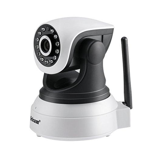 LESHP 720P intelligente Überwachungskamera, drahtlose Wi-Fi Kamera mit Zweiwegaudio, Nachtsicht, Bewegungs-Abfragung für Ihr intelligentes Telefon