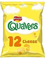Walkers Quavers Cheese Multipack Snacks, 12 x 16 g
