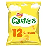 Walkers Quavers Cheese Multipack Snacks, 12 x 16 g