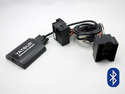 Ford de voiture adaptateur Bluetooth, Digital stéréo voiture aux adaptateur mains libres appel avec charge USB audio 3,5 mm Musique pour Ford Fiesta Mondeo MK3 Focus MK2 Galaxy 2002-2010(Bta-frd2)
