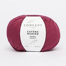 Katia Catena Merino–Color: Cereza (212)–50g/aprox. 120m lana