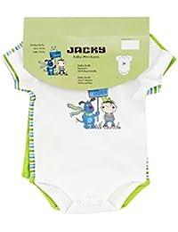 """Jacky Baby Jungen Body kurzarm 3er-Pack """"We need hugs"""" weiß/grün 152673"""