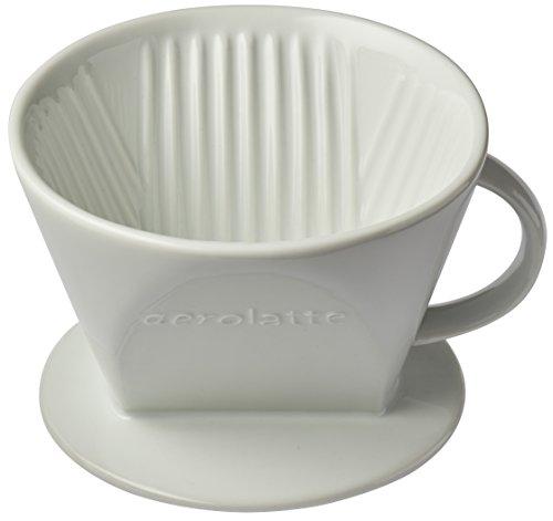 Aerolatte Keramik Kaffee Filter, Porzellan, weiß, No. 4 Size (Keramik-kaffee-filter Cone)
