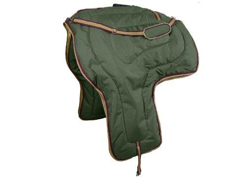 Tahoe Tack 3Schichten Polsterung Western Pferd Sattel Tragetasche (Hunter Grün) - Hunter Green-drei Taschen