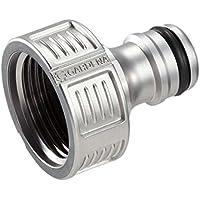 GARDENA Premium Hahnverbinder 26.5 mm (G 3/4 Zoll), Adapter für Wasserhähne, wertiges Metall, spritzfrei, geballter Wasserfluss, frostsicher, 18241-50