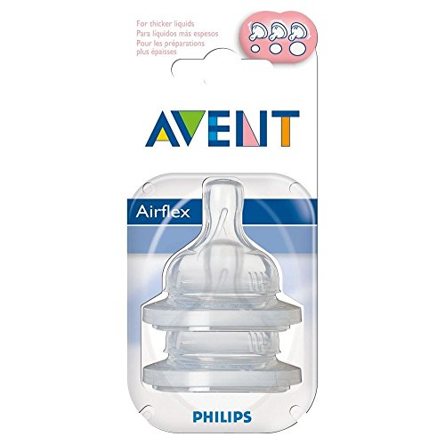 Avent Airflex Silikonsauger - Variable Strömungs 3Mth + (2)
