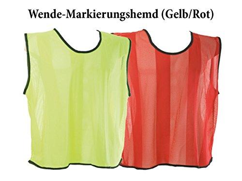 10x Wende-Markierungshemd/Leibchen - gelb/rot - Größe Senior *NEU*