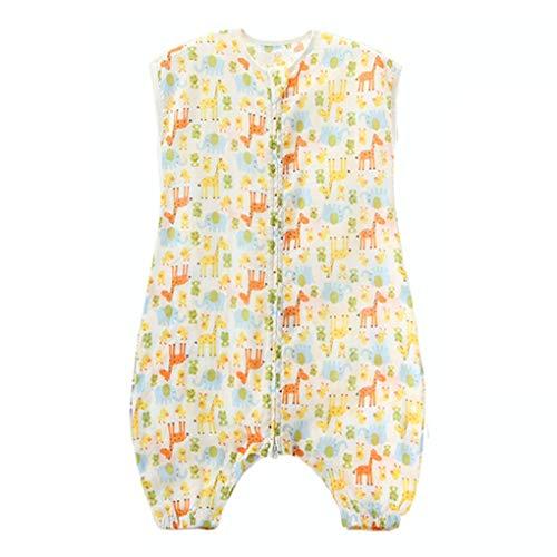 XZ Baby Schlafsack, Sommer Kinderschlafsack Schlummersack Mit Füße Ärmellos Unisex Kindergarten Decken Jungen Mädchen' Pyjama,1,90 -