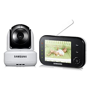 Samsung SEW-3037W Wireless Pan Tilt Video Baby Monitor Infrared Night Vision and Zoom 3.5 inch