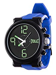 Everlast Jumbo Blue Round Sport Analog Rubber Watch