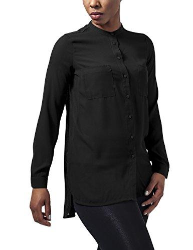 Urban Classics Damen Bluse Ladies Hilo Chiffon Blouse Schwarz (Black 7)
