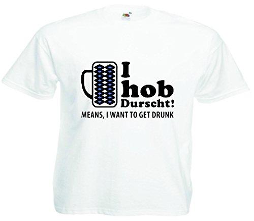 T-Shirt Oktoberfest Wiesn München Junggesellenabschied für Frauen Männer und Kinder in allen Größen XS bis 4XL oder Kinder 104 bis 164 Motiv Nr.02 Herren-Weiß