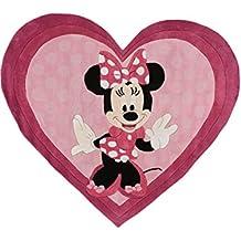 Disney Tappeto bambino Minni Fucsia 150x170 cm - Marchio di qualità TÜV - 100% Poliacrilico (Fucsia Bambù)