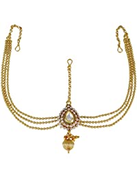 Banithani ethnic goldtone party wear matha patti bollywood traditional indian jewellery